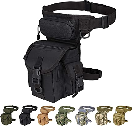 1000D Nylon Tactical Thigh Pack Waist Belt Drop Leg Utility Bag Pouch Black