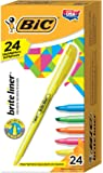 BIC Brite Liner Highlighter, Chisel Tip, Assorted Colors, 24/Set (BL241AST)