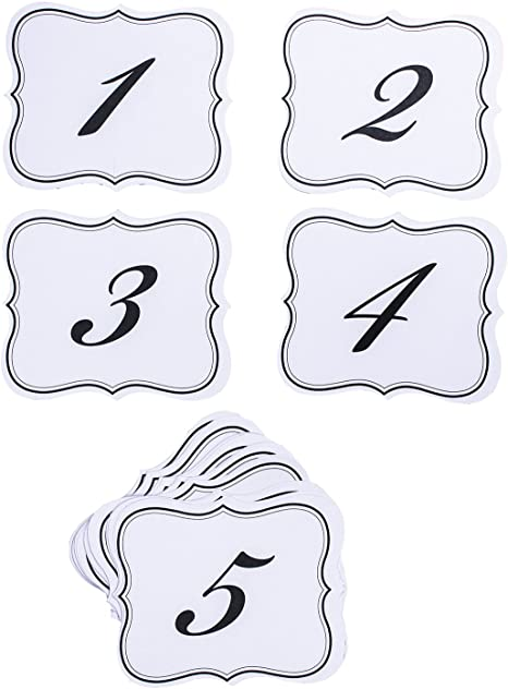 New David Tutera Bridal Collection Wedding Reception Table Signs Numbers 1-25
