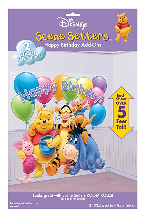 Winnie The Pooh Happy Birthday 65in Scene Setters Add Ons 2ct