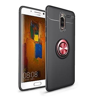 Funda Mate 9 Pro, Carcasa Huawei Mate 9 Pro , RosyHeart Negro Fibra de Carbono Silicona Cover Case para Huawei Mate 9 Pro 5.5