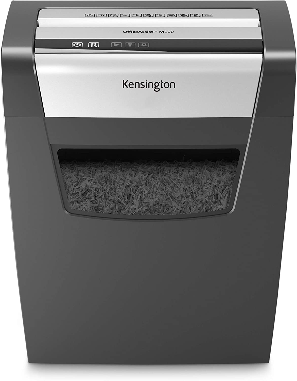Kensington Crosscut Shredder - OfficeAssist 10-Sheet Anti-Jam P4 Security Shredder (K52075AM)