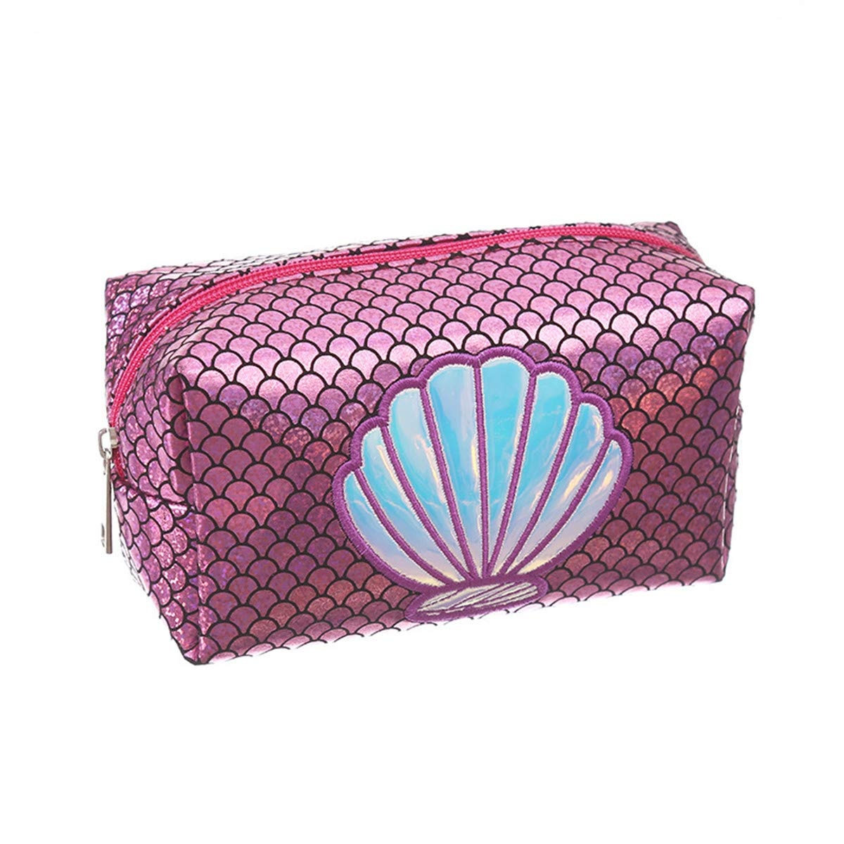 Fish Tail Organizador port/átil Bolsa de Almacenamiento Bolsas Caja WINTER DONG Acuarela Rainbow Mermaid Scales Bolsa de Maquillaje Art/ículos de tocador Bolsa de Viaje Estuche para Mujeres