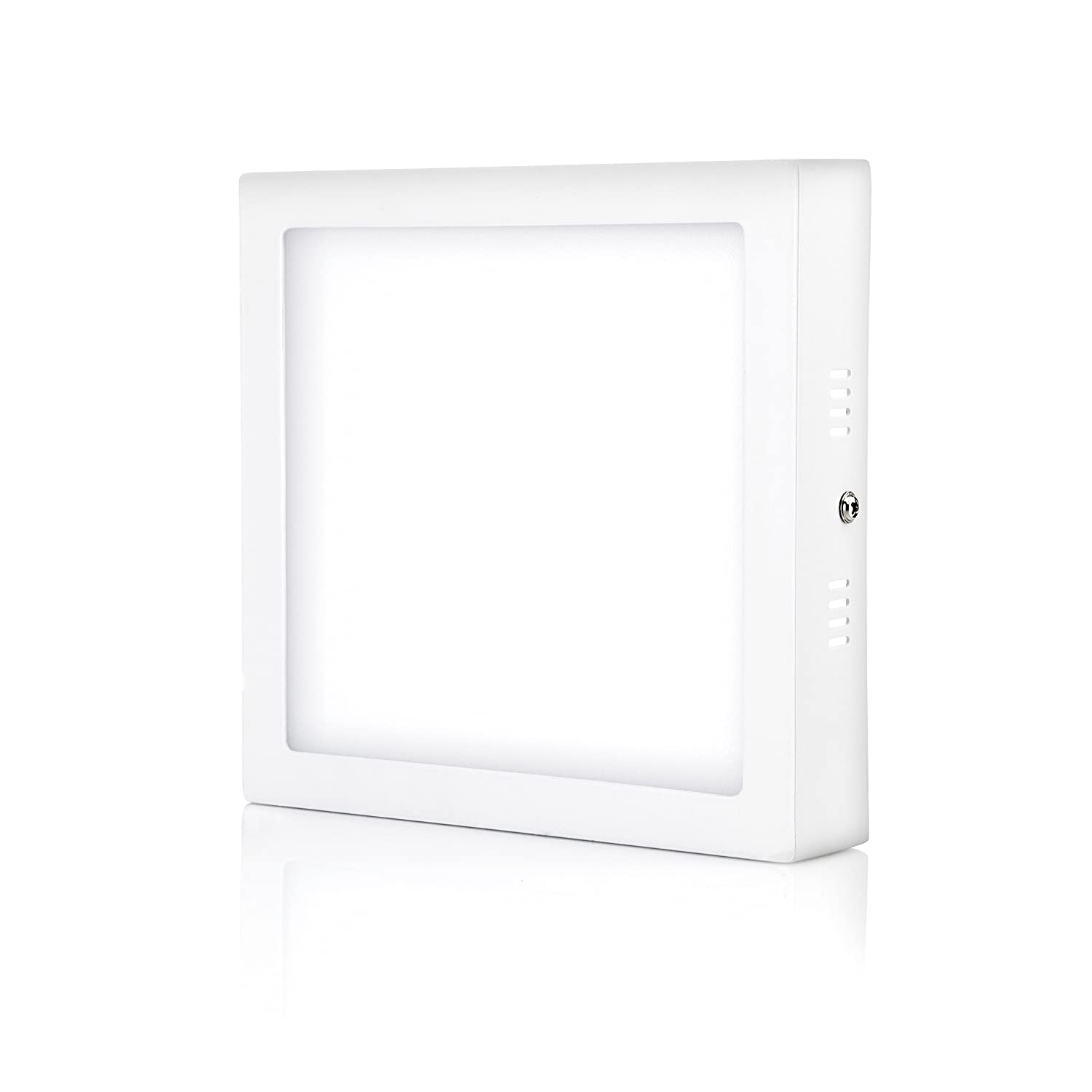 Hyperikon LED Ceiling Light 7 Inch Square, 65 Watt Replacement (15W), Flush Mounth Indoor Lighting, 5000K, Non Dimmable, 4 Pack