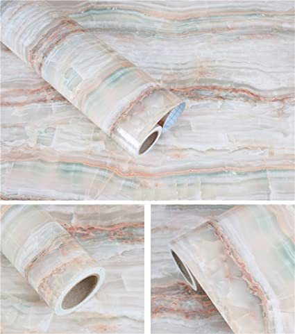 Amazoncom Waterproof Marble Granite Look Contact Paper Kitchen - Contact paper for kitchen countertops