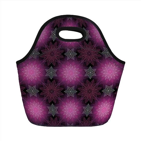 Review Neoprene Lunch Bag,Fractal,Radiant Fragmented