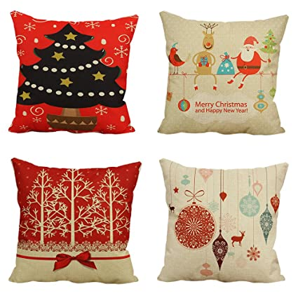Amazon Christmas Pillow Case Covers 40 X 40 Inch Decorative Beauteous Pillow Case Covers For Throw Pillows