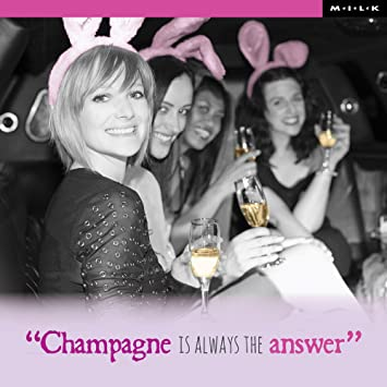 Champagne Is Always The Answer Birthday Greeting Card Square Milk Range Cards Amazoncouk Office Products