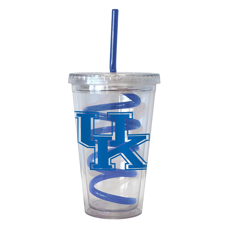 NCAA Kentucky Wildcats Tumbler with Swirl Straw 16-ounce