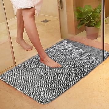 Flintronic Badematten Badezimmer Teppich Microfaser Badvorleger In