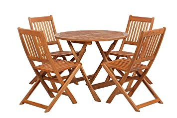 Royalcraft Manhattan 4 Seater Dining Folding Set