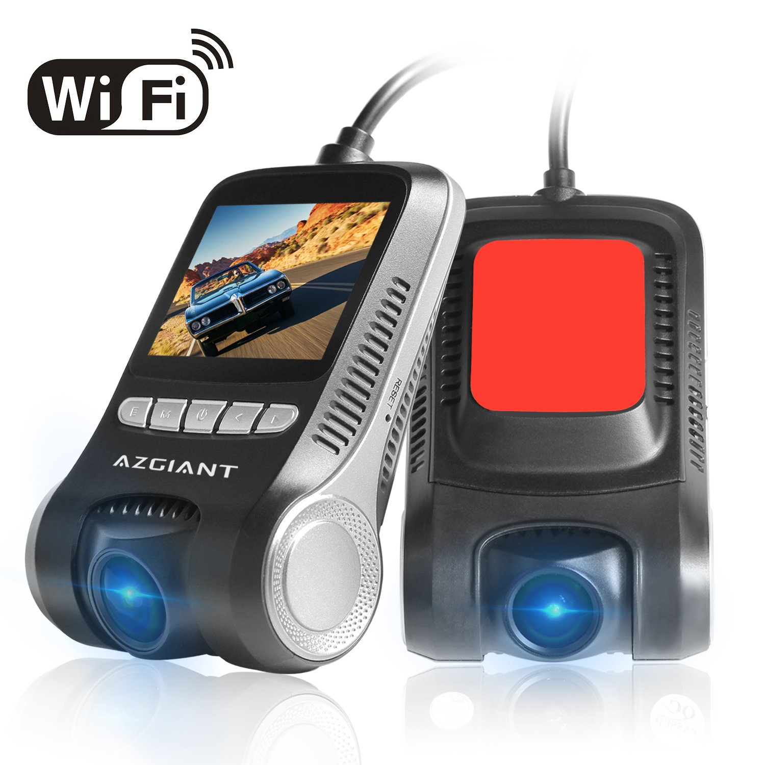 Parking Mode 32gb SD Card Included 2 LCD 170 Degree Dash Camera with Night Vision AZGIANT DT-88 dashboard camera HD 1080P WiFi Car Dash Cam Pro Loop Recording 2 LCD 170 Degree Dash Camera with Night Vision Dash Cam for Cars