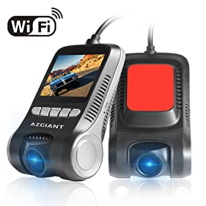 """Dash Cam for Cars, HD 1080P WiFi Car Dash Cam Pro, 2"""" LCD 170 Degree Dash Camera with Night Vision, Loop Recording, Parking Mode, 32gb SD Card Included"""