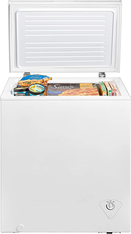 Renewed midea MRC050S0AWW Chest Freezer 5.0 Cubic Feet White