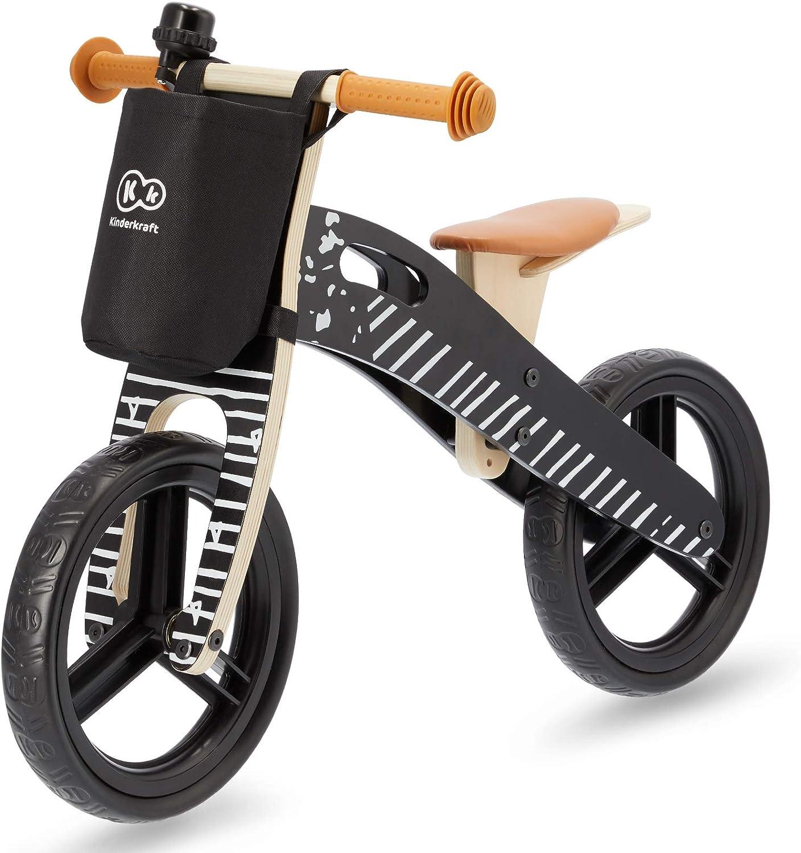 Kinderkraft Bicicleta sin Pedales RUNNER, Ligera, Ajustable, 3 Años y más, Negro