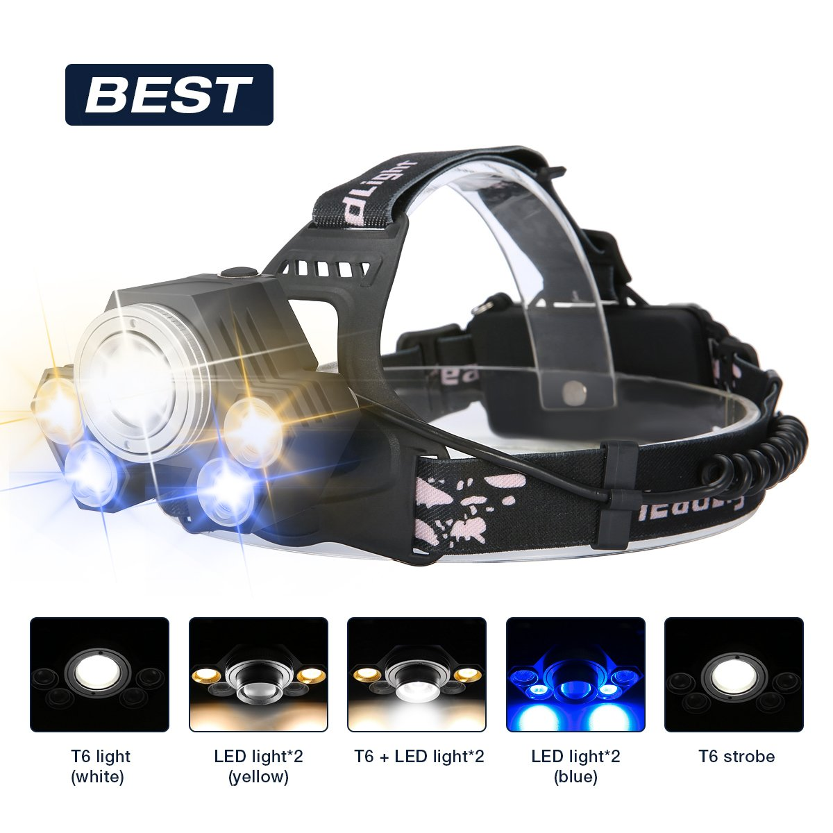 Symbol Of The Brand Bicycle Accessories Bike Flashlight Headband/helmet Strap Mount Head Strap For Led Headlamp/head Car Styling #30 Atv,rv,boat & Other Vehicle