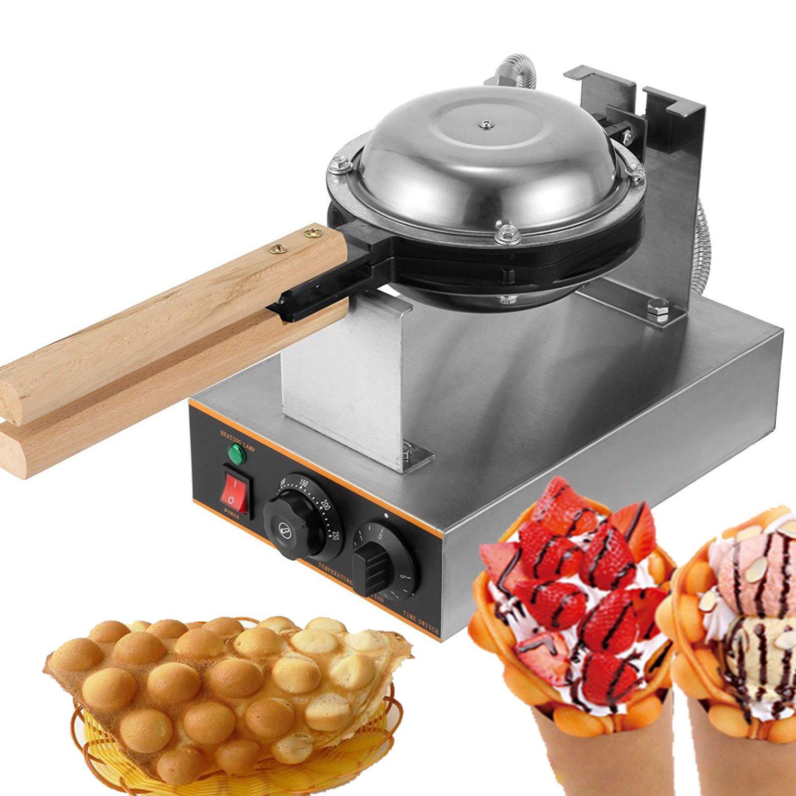 Happybuy Puffle Waffle Maker 1400W Professional Rotated Nonstick 110V Hong Kong Egg Bubble Waffle Maker