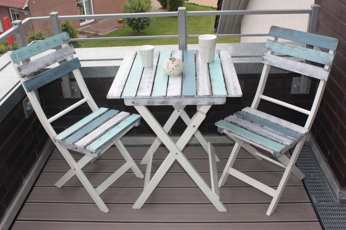 dreams4home balkonset 39 salo 39 3tlg set 2x klappstuhl 1x klapptisch im vintage look. Black Bedroom Furniture Sets. Home Design Ideas