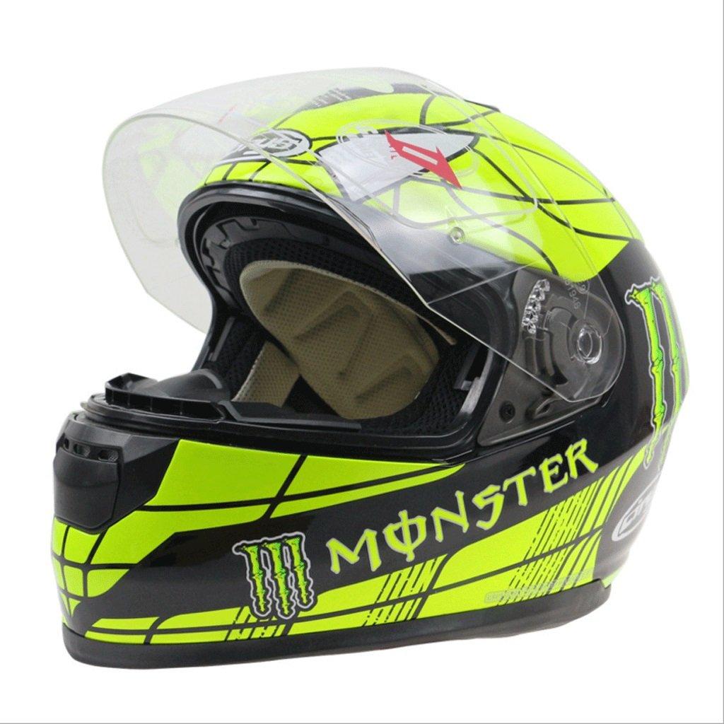 DGF ヘルメットダブルレンズオートバイオートバイフルヘルメットゴーストスパイダーパターン男性と女性のオートバイレーシングフルヘルメットの安全性 (サイズ さいず : XXL) B07FMZKNMR XX-Large XX-Large