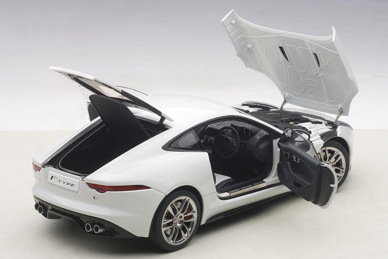 Co Jaguar F-Type 2015 R Coupe Polaris White AUTOart 73651 1//18 Composite Die-Cast