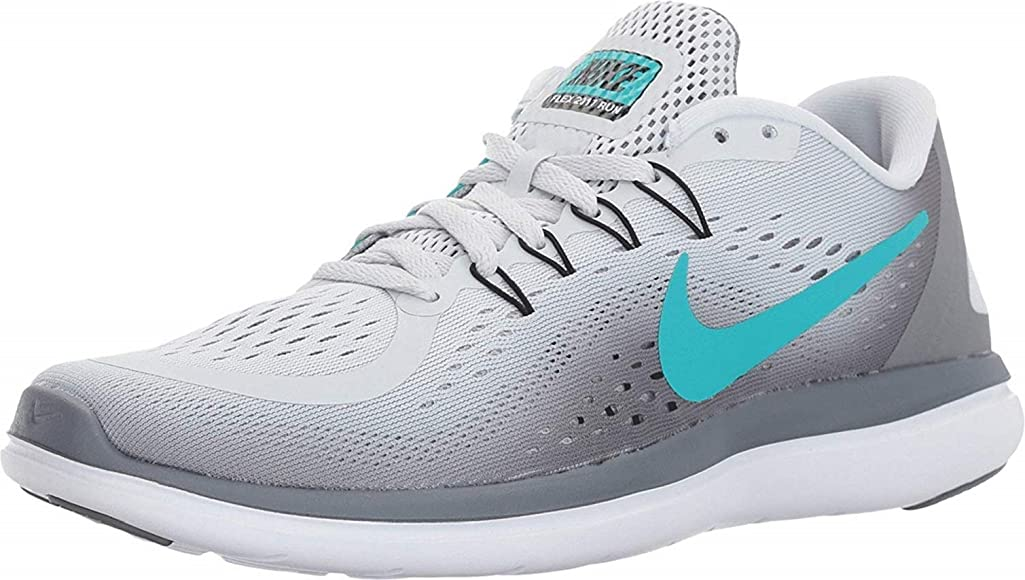 Nike WmnsFlex 2017 RN, Zapatillas para Mujer, Multicolor (Pure Platinum/Clear Jade/Cool Grey/Black 001), 39 EU: Amazon.es: Zapatos y complementos