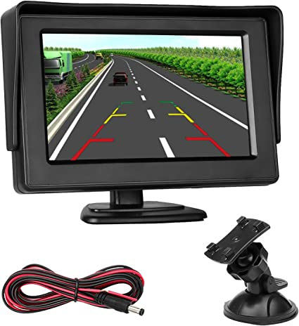 "4.3/"" LCD Car Dashboard Color Monitor for Rearview Vehicle Backup Parking Cameras"