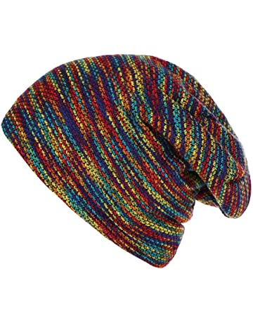 809176fdf6e Kanhan❤ Women Mens Soft Warm Striped Knitted Outdoors Casual Hat