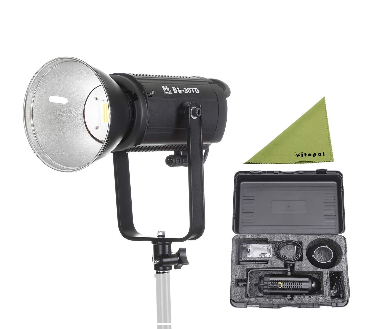 Falcon Eyes BL-30TD 300W Bowens Mount Studio Continuous LED Bi-Color 3000K-8000K Studio Light V-Mount Plate,Compatible with DMX 512