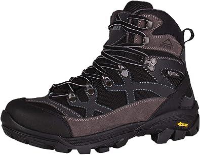 8d9d27134d6a03 McKINLEY Trekkingstiefel Magma Chaussures de Randonnée Hautes Femme, Noir  (Grau/Schwarz/Hellblau