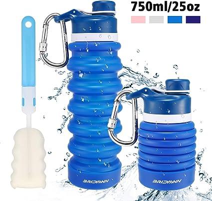 Sports Water Drinks Bottle Gym Travel Hiking Folding Walking Reusable Drinking