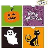 iFUNow 72 Pack Halloween Bags Bulk for Halloween Goodie Bags, Halloween Candy Bags, Halloween Treat Bags, Halloween…