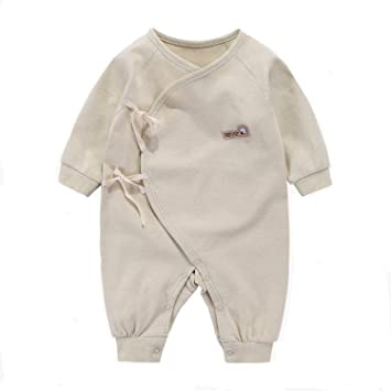 1b8c083f73540 エルフ ベビー(Fairy Baby)オーガニックコットンベビー肌着 新生児ロンパース パジャマ 長袖 出産祝い