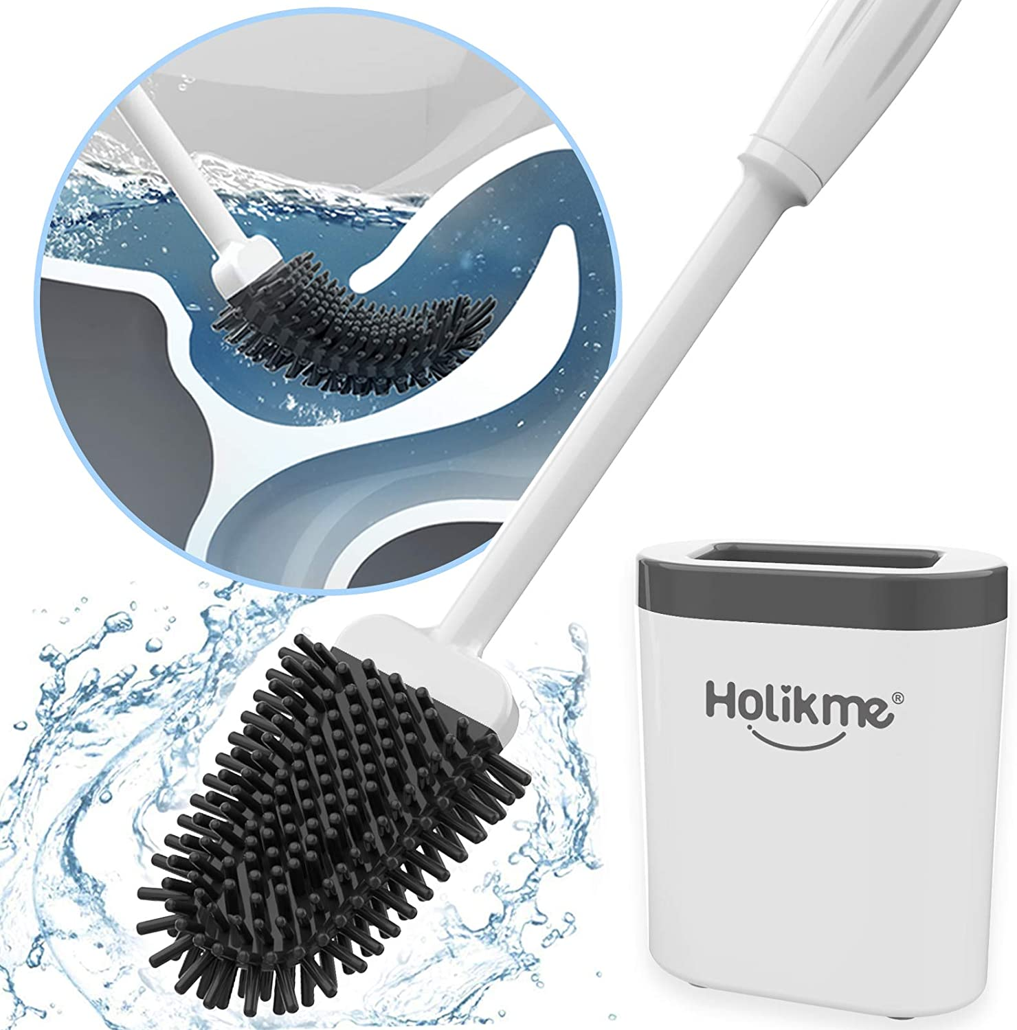 Revolutionary Silicone Flex Toilet Brush And Holders Creative Cleaning Brush Set