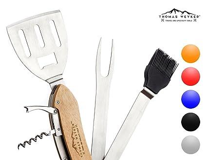 Amazon.com: 5-in-1 BBQ – Juego de herramientas para grill ...