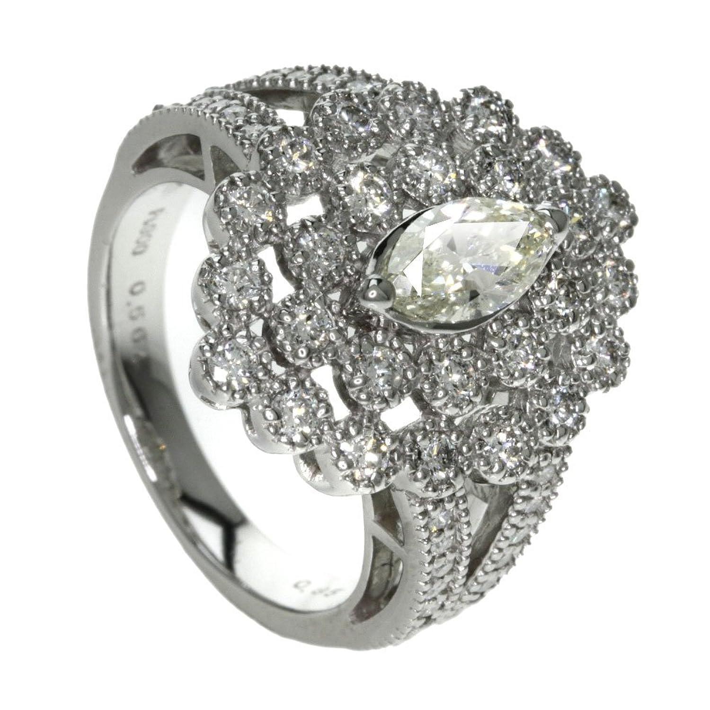 10.9g ダイヤモンド リング指輪 プラチナPT900 レディース (中古) B0761JJHXT