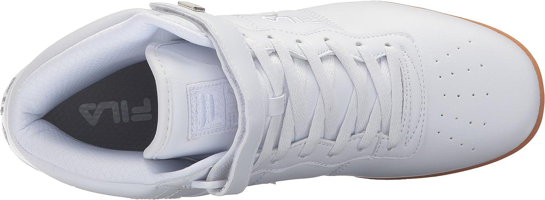Fila Men's Vulc 13 Mid Plus Walking Shoe White/Silver/Gum