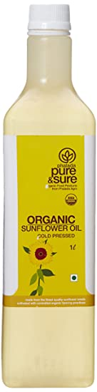 Pure & Sure Organic Sun Flower Oil, 1L