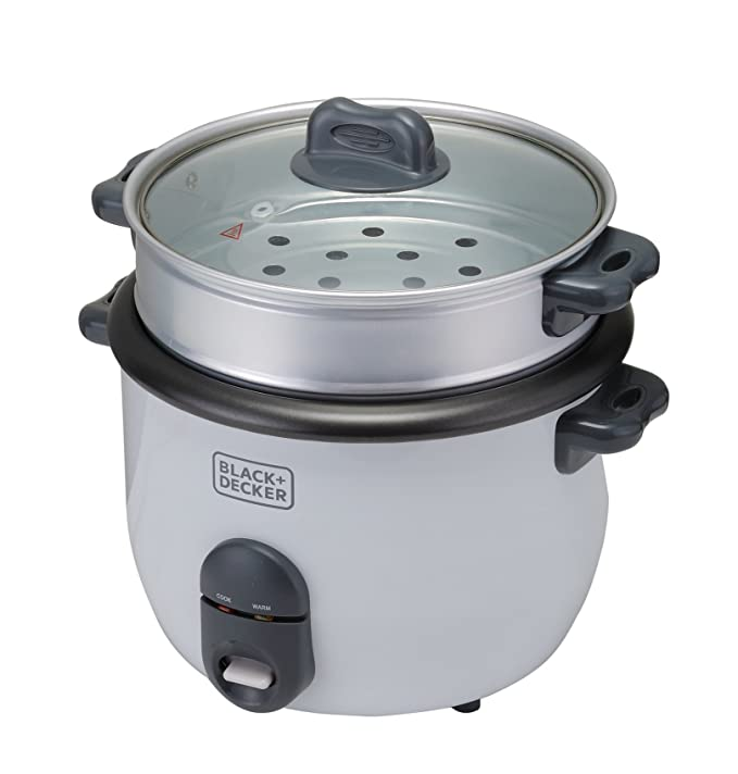 Amazon.com: Black & Decker RC1860 700W 1.8 L 7.6 Cup Rice Cooker (Non-USA Compliant), White: Kitchen & Dining