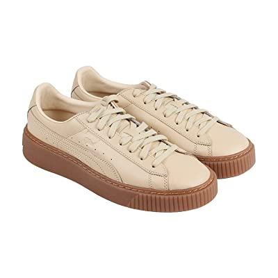 PUMA Platform Veggie Tan - Naturel Womens in Natural Vachetta, 9 | Fashion Sneakers