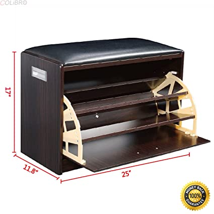 Perfect COLIBROX  Wood Shoe Storage Bench Ottoman Cabinet Closet Shelf Entryway  Multipurpose New,closet