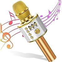 Micrófono de Karaoke Bluetooth Micrófono Inalámbrico 4 en 1 Altavoz de Karaoke Portátil, Micro Máquina para KTV, Karaoke…