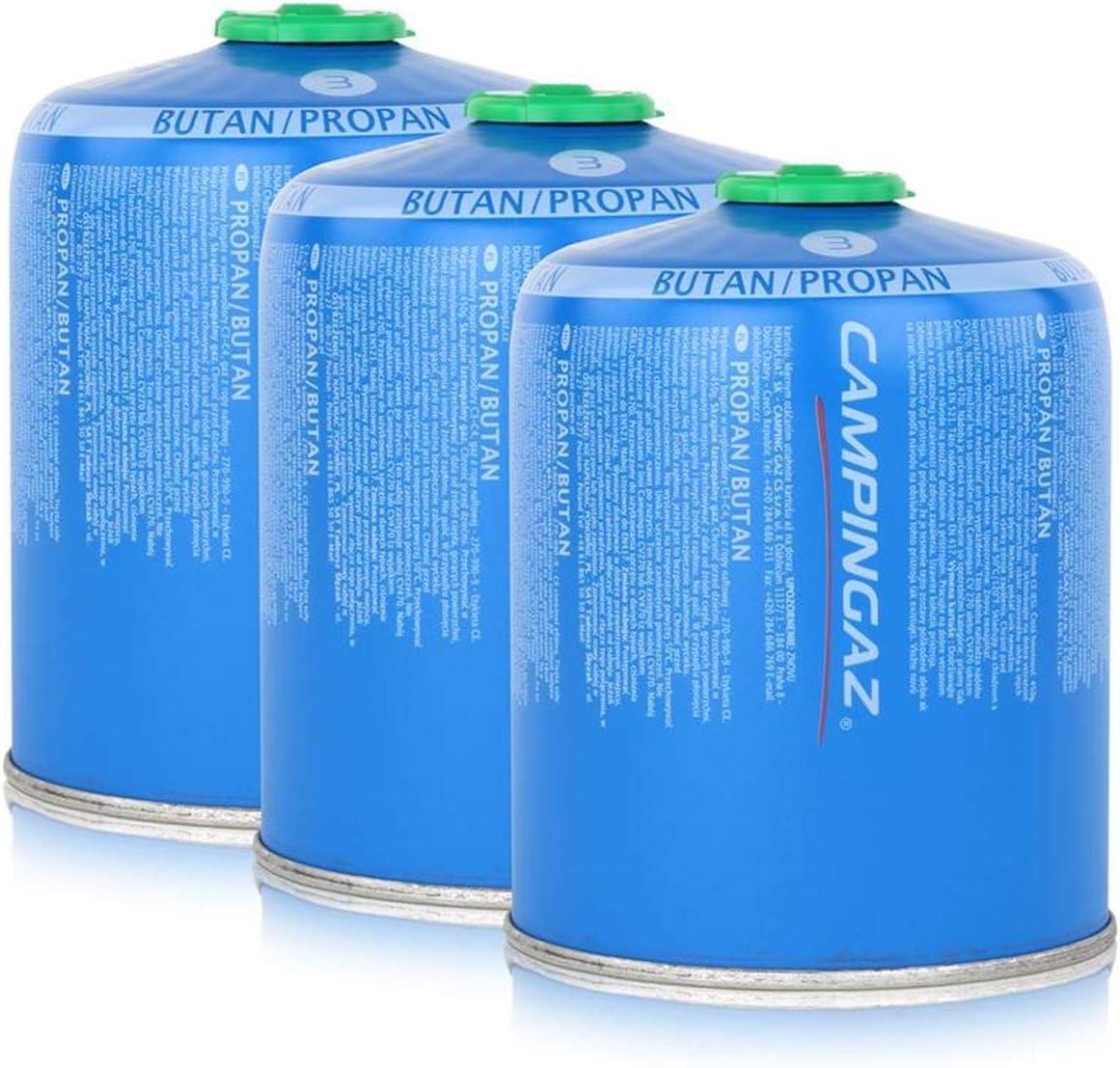 Campingaz Válvula de gas CV470 Plus 450 g – Butano/Propano Gas (3 unidades)