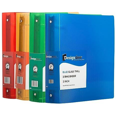 amazon com jam paper assorted 2 inch width plastic 3 ring binders