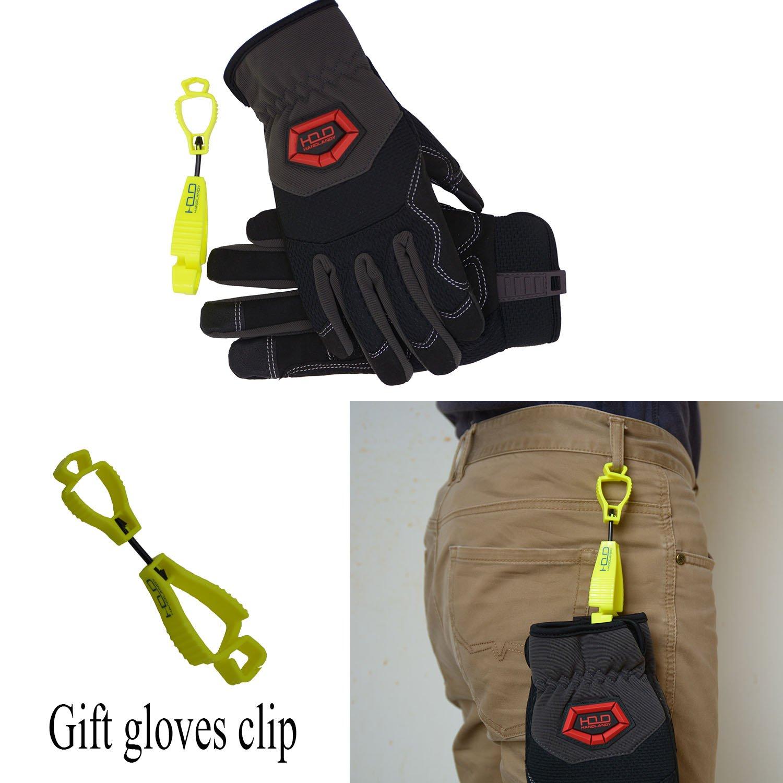 Handlandy Flex Grip Work Gloves Mens, Anti Vibration Impact Gloves- SBR Padded Palm, Improved Dexterity, Stretchable, Extra Large by HANDLANDY (Image #6)
