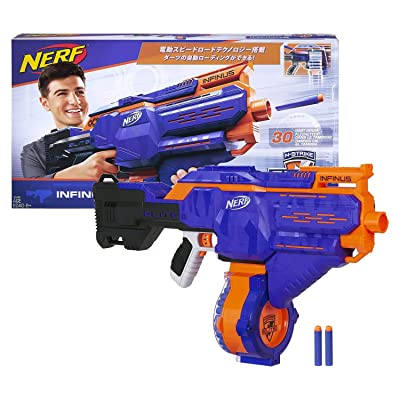 Infinus Nerf N-Strike Elite Toy Motorized Blaster with Speed-Load Technology, 30-Dart Drum, and 30 Official Nerf Elite Darts for Kids, Teens, and Adults: Toys & Games