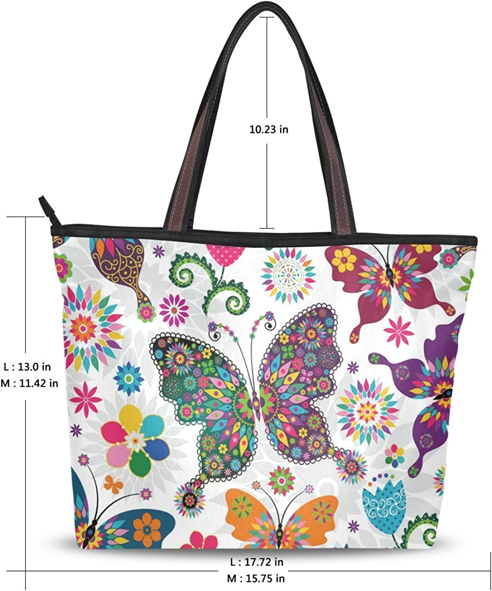 Butterflies and Flowers Tote Bag