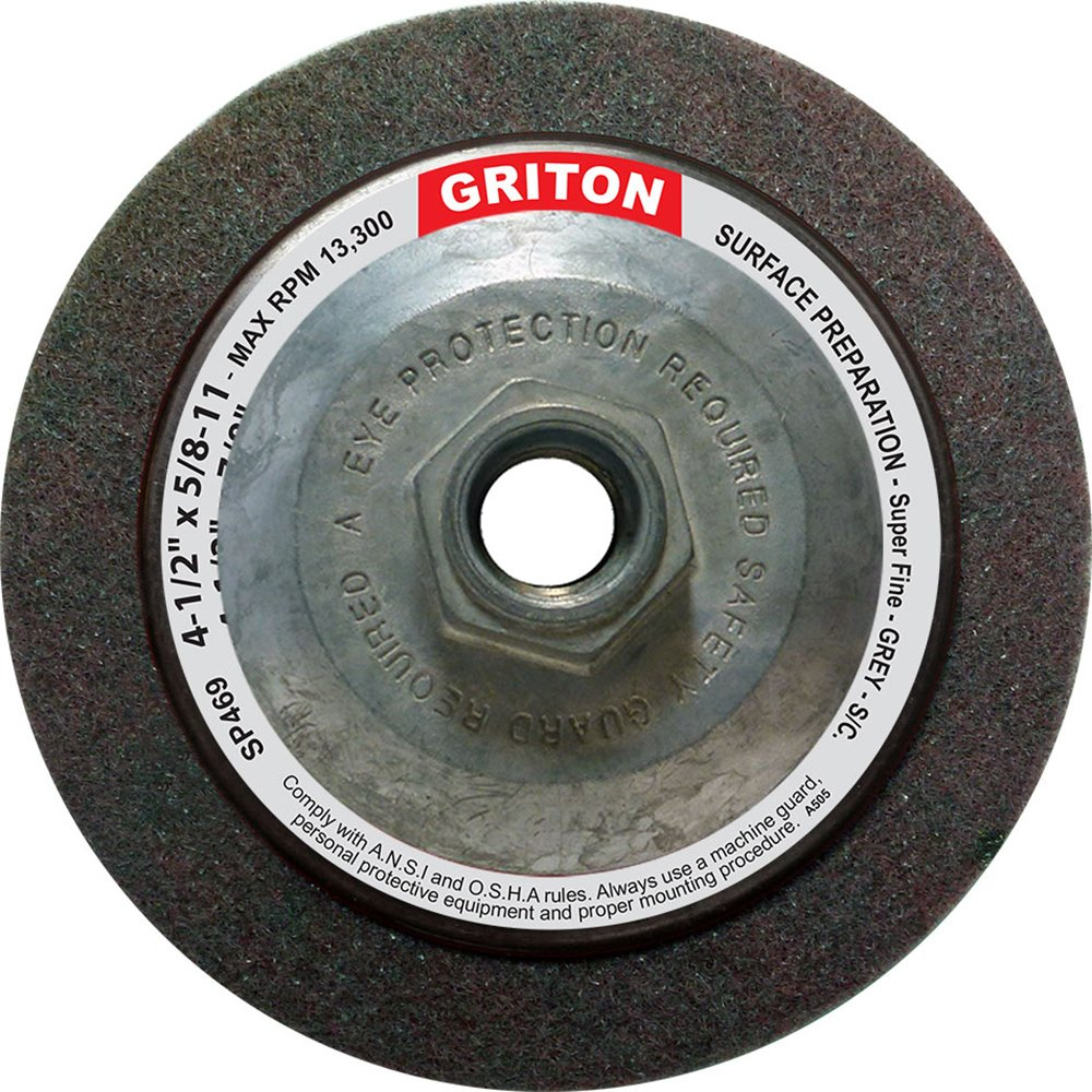 Griton SP469 Hub Silicon Carbide Super Fine Surface Preparation Wheel, 4-1/2'' x 5/8'' (Pack of 10)