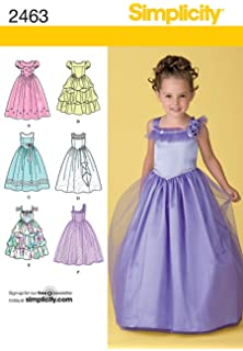 66048559c03 Amazon.com: Simplicity Sewing Pattern 4764 Child Special Occasion ...
