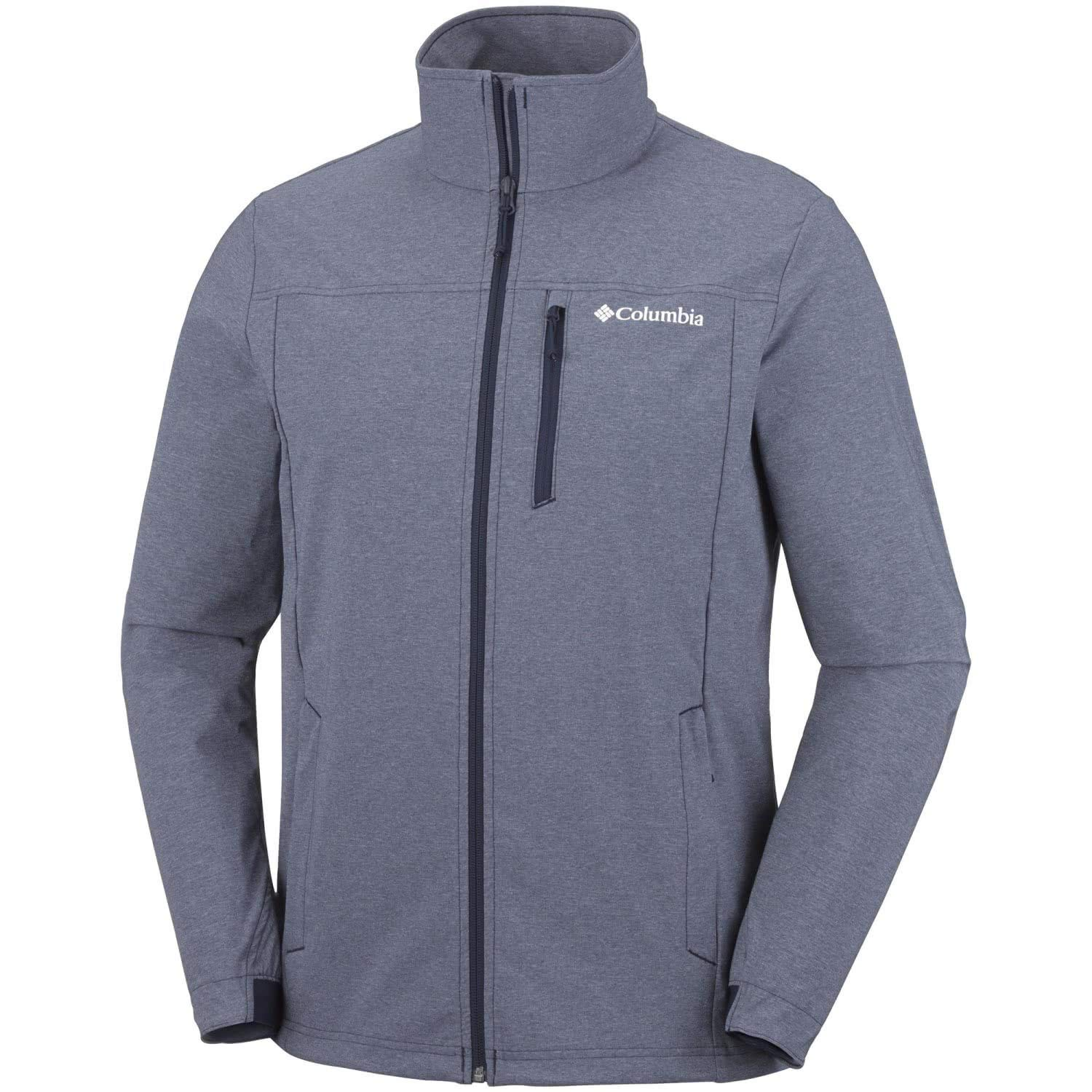 Columbia Softshell Jacke für Herren, HEATHER CANYON HOODLESS JACKET, Polyester, Blau (Collegiate Navy Heather), 1772761