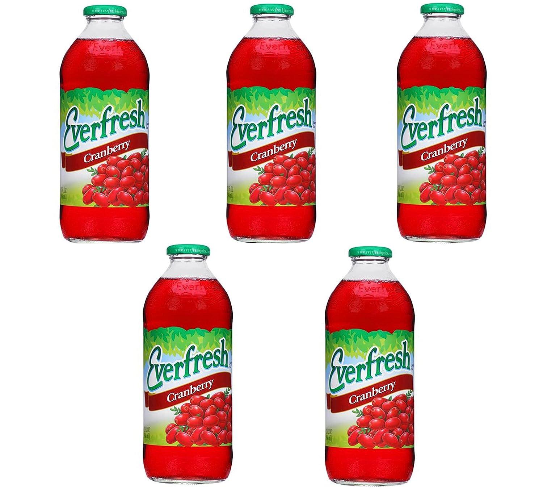 EVAXO LUV BOX -EVERFRESH CRANBERRY Juice 32 OZ , PACK OF 5